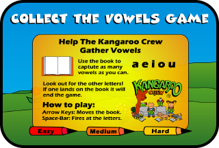 Collect the Vowels Games