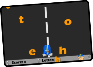 Letter Raceway Game Screen