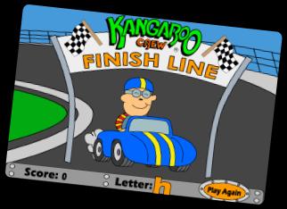 Letter Raceway Congratulations Screen