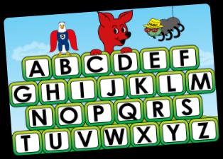 Alphabet Letter Selection Screen