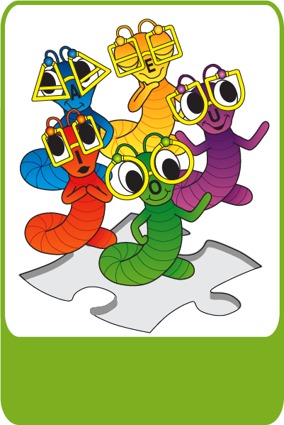 <a class='Imglink' target='_self' href='http://www.kangaroocrew.com/characters/'>A,E,I,O and U the Bookworms</a><div class='clear_description'>The bookworms are very smart and enjoy learning new words. They can often be found reading mystery books and playing video games.</div>