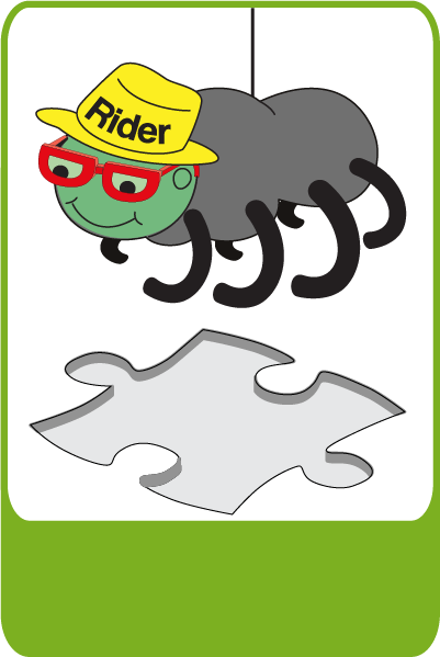 <a class='Imglink' target='_self' href='http://www.kangaroocrew.com/characters/'>Rider the Spider</a><div class='clear_description'>Rider is a mischievious young spider. He loves words and sometimes speaks in rhyme. Rider is supremely self-confident, convinced that he is invincible.</div>
